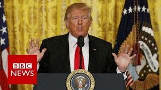 Repeat youtube video Donald Trump press conference: Highlights - BBC News