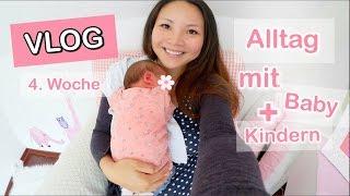 MAMA ALLTAG! NEUGEBORENES BABY 4. WOCHE & 2 KINDER UNTER EINEN HUT BRINGEN | Mamiseelen