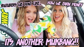 YOUTUBERS WE DON'T LIKE & HOW WE EARN MONEY... | Drive With Us & MUKBANG!