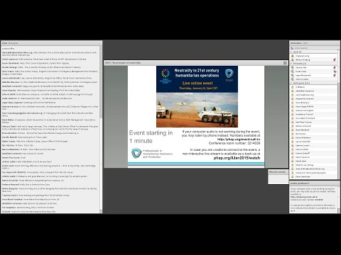 WHS - Special online discussion event on the principle of neutrality