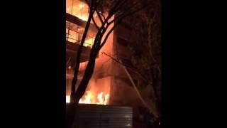 Incêndio na sede do TRT de Goiás