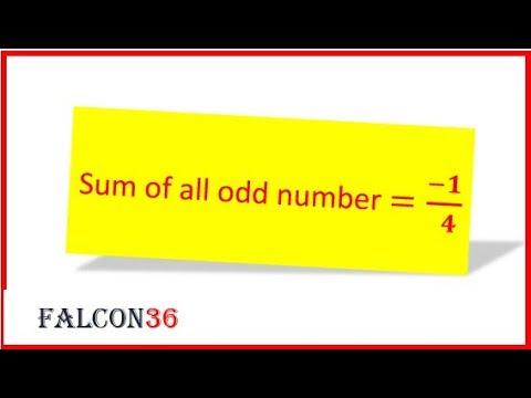 odd number summation|Fallacy of mathematics-math fun
