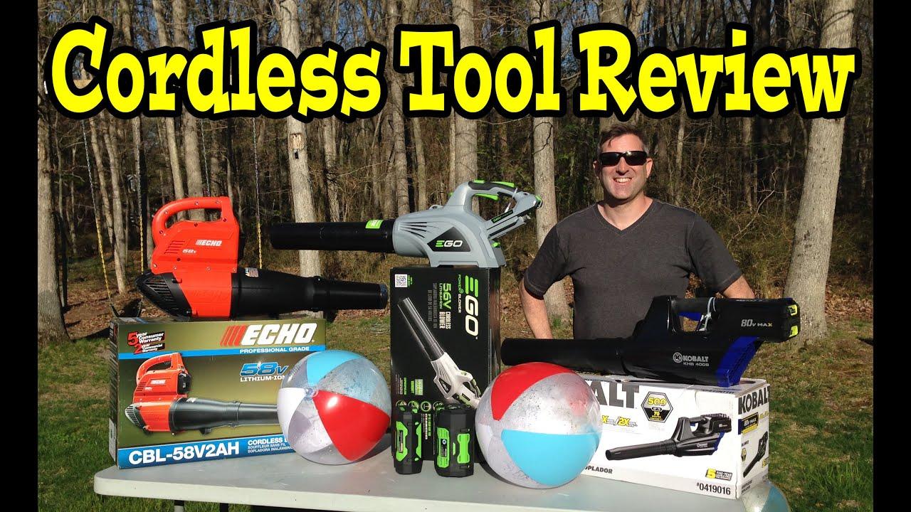 ego 56volt echo 58v kobolt 80v cordless leaf blower comparison review demo video youtube