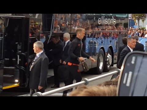 Manchester City Arrive For Steaua Bucharest Game - Joe Hart Starting His Last Game For City?