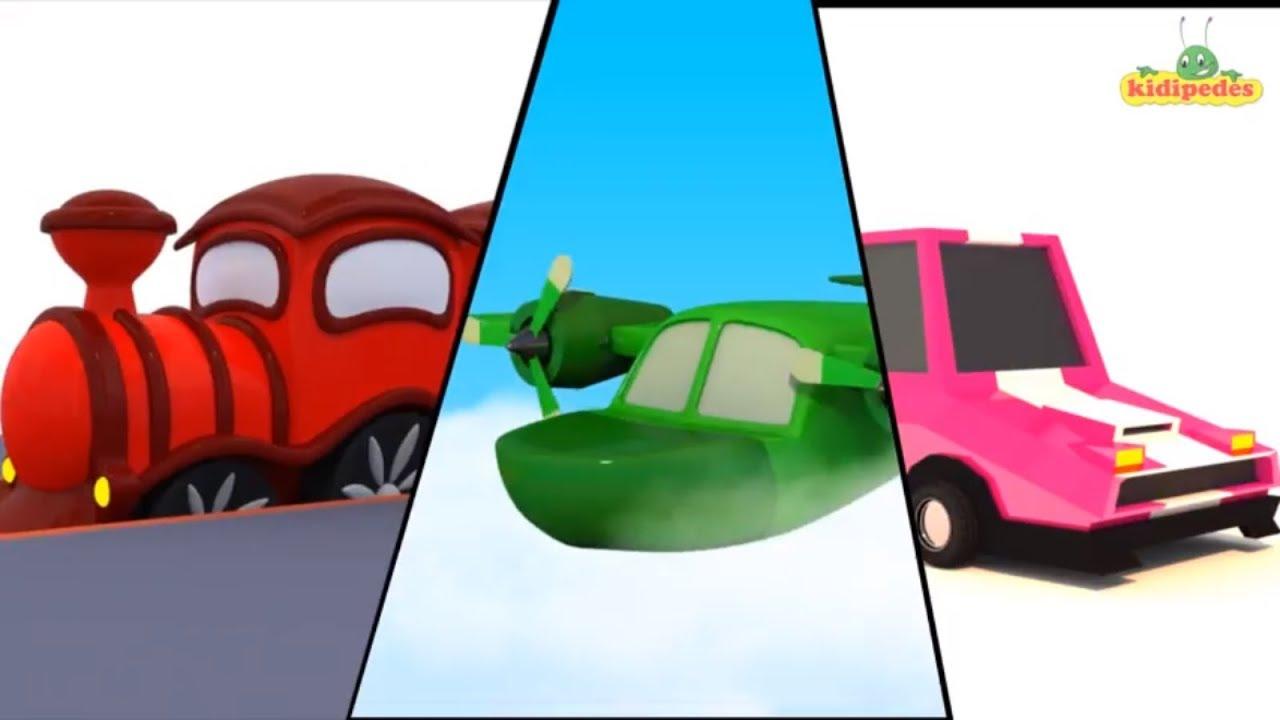 3D Color Song I Children Nursery Rhymes I Kindergarten Learning ...