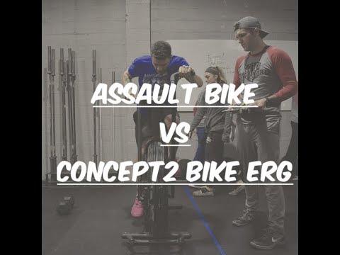 Assault Bike Vs Concept2 Bike Erg Youtube