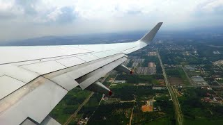 Silk Air Boeing 737-800 SCENIC WING VIEW TAKEOFF from Kuala Lumpur Intl. Airport (KUL)!