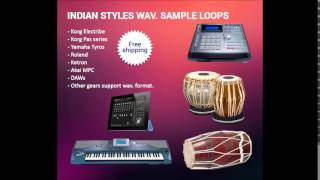 Indian style tabla loops for Pa1x, Pa2x, Pa3x, Tyros, Roland, Ketron, MPC, Electribe