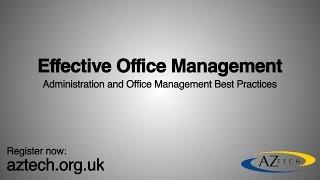 Effective Office Management