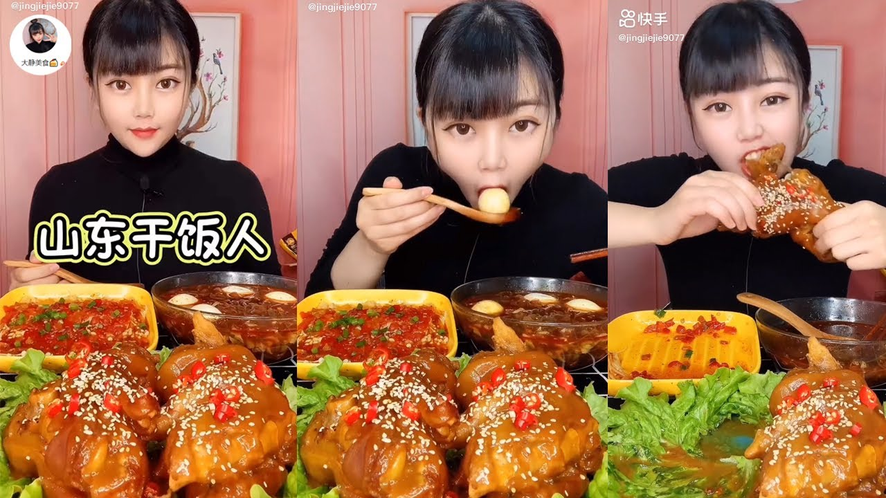Chinese Mukbang: 🍖 ASMR Eating Show - Eat Noodle soup with duck egg & Pig's legs