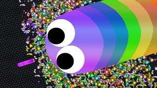 Slither.io SMALL vs BIG Snakes A.I. 1,400,000+ Score World Record (Epic Slitherio Gameplay)
