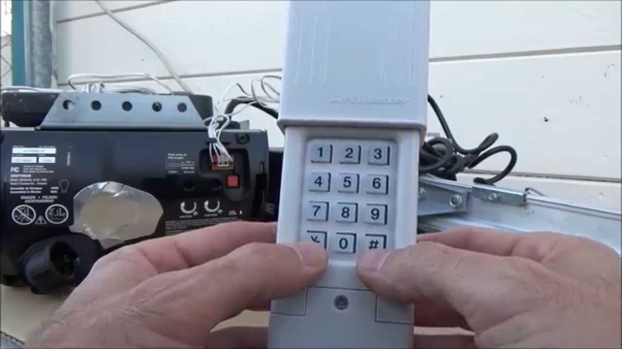 How To Program Craftsman Garage Door Opener >> Clicker Keypad ProgramTo Smart/ learn Button-Type4 - YouTube