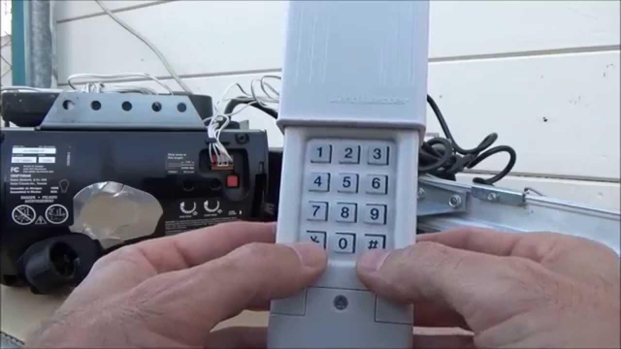 genie keypad garage door opener wiring [ 1280 x 720 Pixel ]