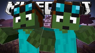 Minecraft  DANTDM ZOMBIES!!  Blocking Dead Minigame