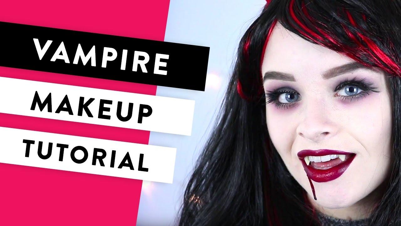 Female vampire makeup