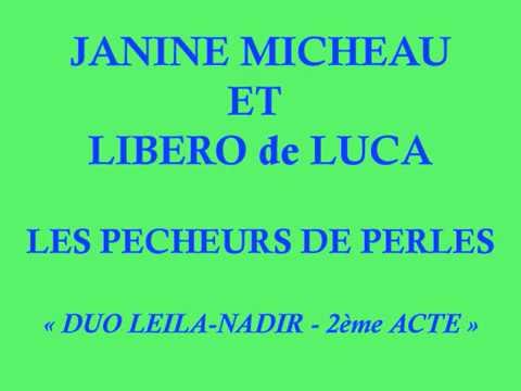 Janine Micheau et Libero de Luca   Les Pêcheurs de Perles   Duo 2ème acte  Leila