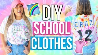 DIY BACK TO SCHOOL CLOTHES! 3 Cute & Easy Shirt Ideas! 2017
