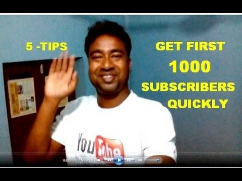 How to Get your First 1000 Subscribers Quickly on YouTube ( 5-TIPS )