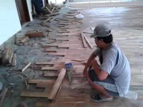 Cara pemasangan lantai kayu YouTube