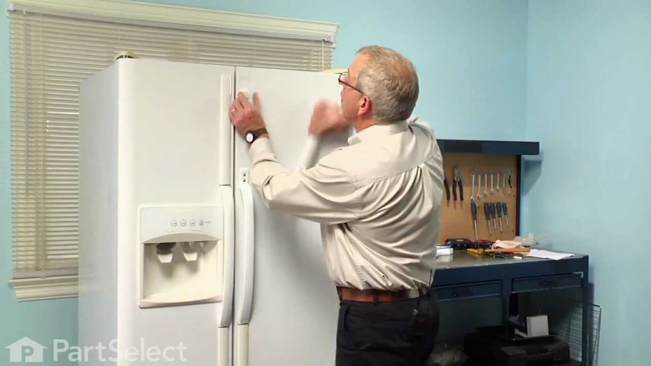 Refrigerator Repair- Replacing the Door Handle (Frigidaire Part ...