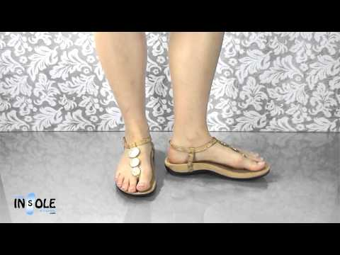 Vionic Orthaheel Lizbeth Gold Cork Orthotic Sandals @TheInsoleStore.com