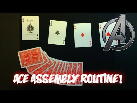 """Aces ASSEMBLE!"" Advanced Card Trick Tutorial thumbnail"
