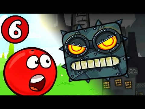 КРАСНЫЙ ШАРИК против чёрного квадрата ЧАСТЬ #6 игра Red Ball 4 на канале Мистер Игрушкин