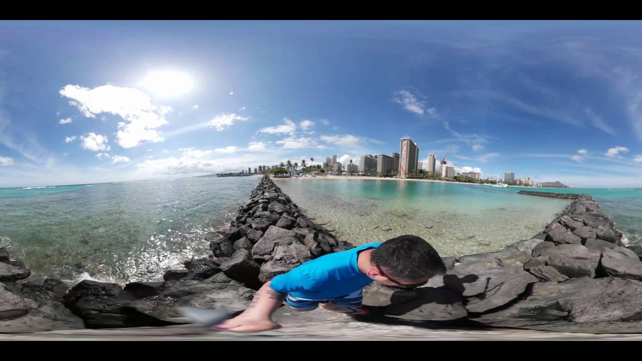 Samsung Gear 360: Honolulu Beach 360 Camera (Hawaii) - YouTube