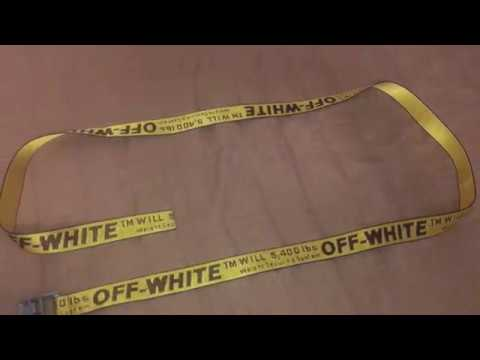 61fb1a77315 Off White Yellow Industrial Belt (replica) Review - YouTube