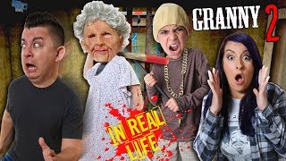 GRANNY Chapter Two IN REAL LIFE (Front Door Escape) FUNhouse Family