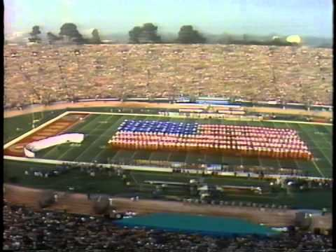 Superbowl XIX Pregame - National Anthem / Flag (1985 - Stanford Stadium)