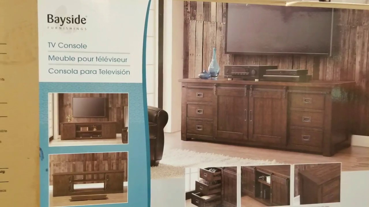 Costco Bayside 72 Tv Console W Barn Doors 399 Youtube