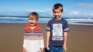 Kids Drive Car to Beach! Funny Kids Skit Just for Fun Skit!