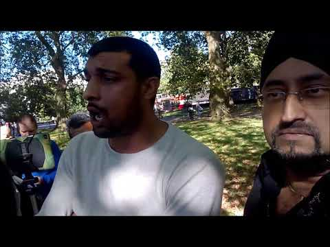 FIRST FAILED ATTEMPT BY MUSLIMS TO BULLY ME OUT OF SPEAKERS CORNER LOL