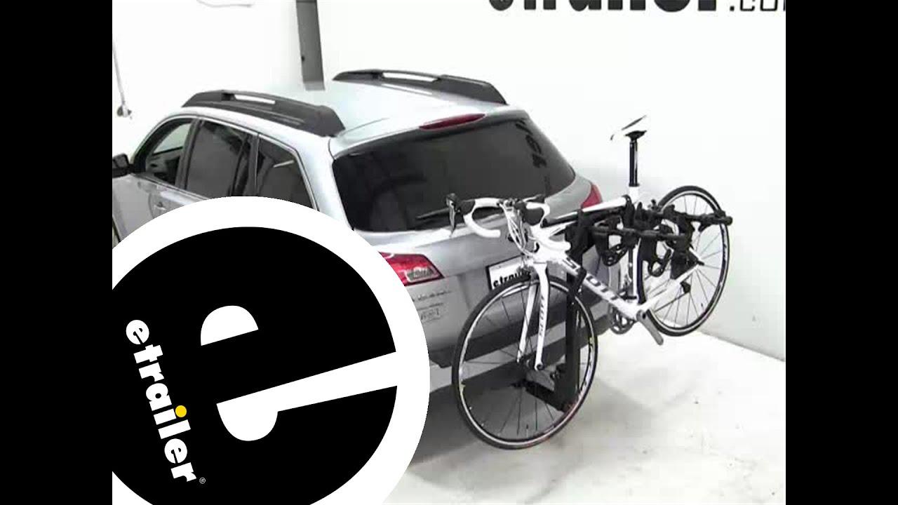 thule hitching post pro hitch bike rack review  subaru outback wagon etrailercom youtube