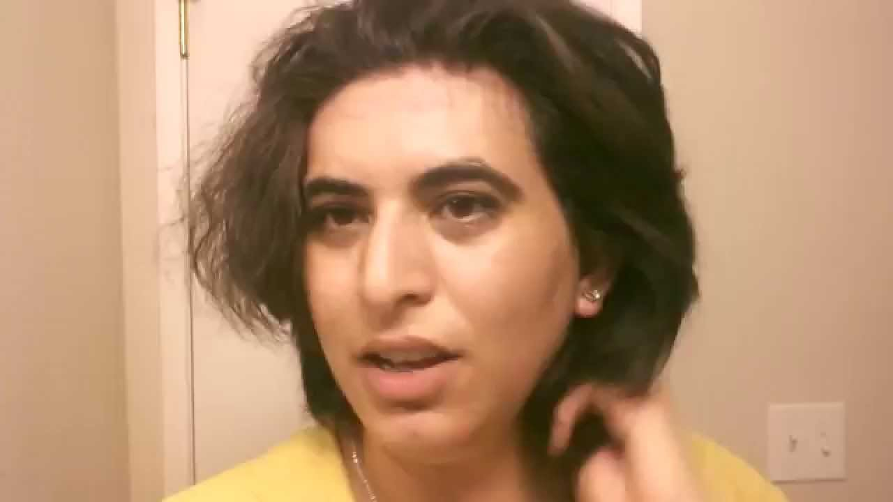 Thick hair pixie cut - 11 month growth - YouTube