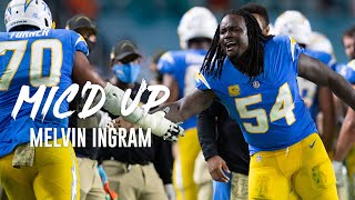 """Melvin Ingram Mic'd Up vs. Dolphins, """"I been lifting weights!"""""""