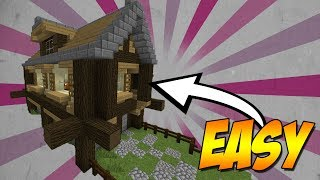 Minecraft: How To Build A Small Log Cabin House Tutorial