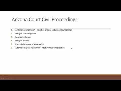 Arizona Court Civil Proceedings