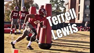 Terrell Lewis practices with Alabama Crimson Tide linebackers before Orange Bowl