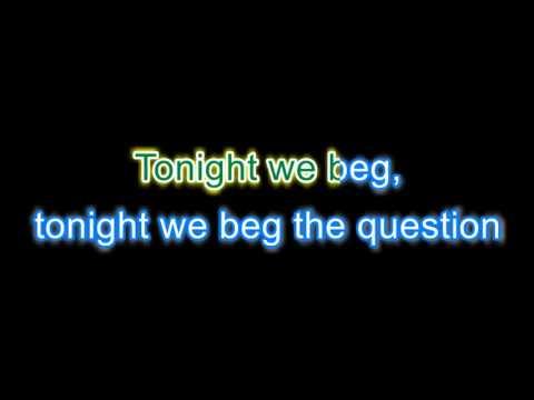 Jackie Collins existentialist question time - Karaoke version