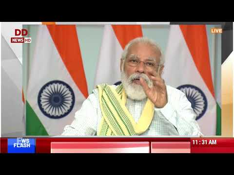 PM Narendra Modi's address at the launch of Asia's largest Solar Power Project in MP