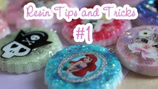 Resin Tips and Tricks #1 - Mixing resin, bubbles, temperature, puffy and paper stickers