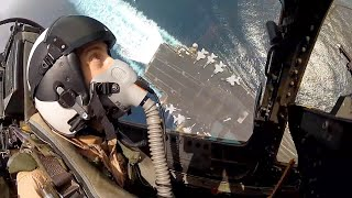 Awesome F/A-18 Super Hornet Hi-Speed Low-Level Cockpit View