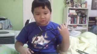 6 year old brother singing Ultraman Ace theme song!