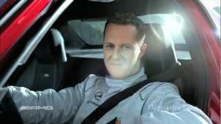 Mercedes SLS AMG трюк Михаэля Шумахера.