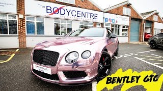Bentley GTC Wrapped in Rose Gold Chrome