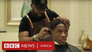 Premier League footballers get hairstyles from this Ghanaian barber - BBC Africa