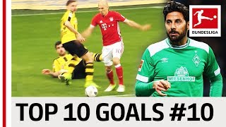 Top 10 Best Goals - Players with Jersey Number 10 - Robben, Diego, Calhanoglu & Co.