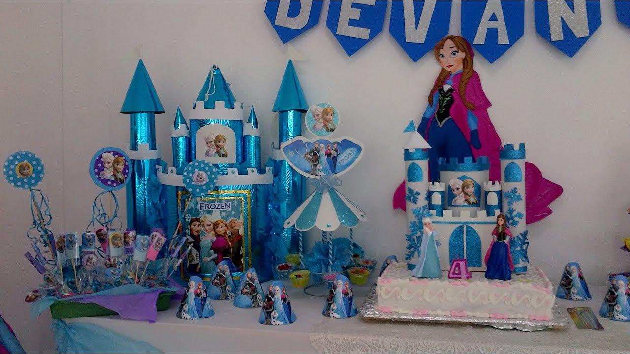 Fiesta de frozen elsa y anna frozen party Parte 2  YouTube